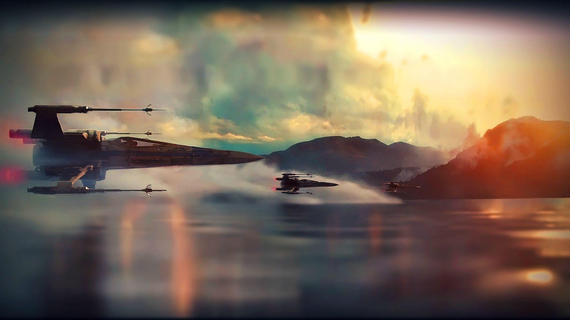star wars ep vii the force awakens teaser x wing super saturated