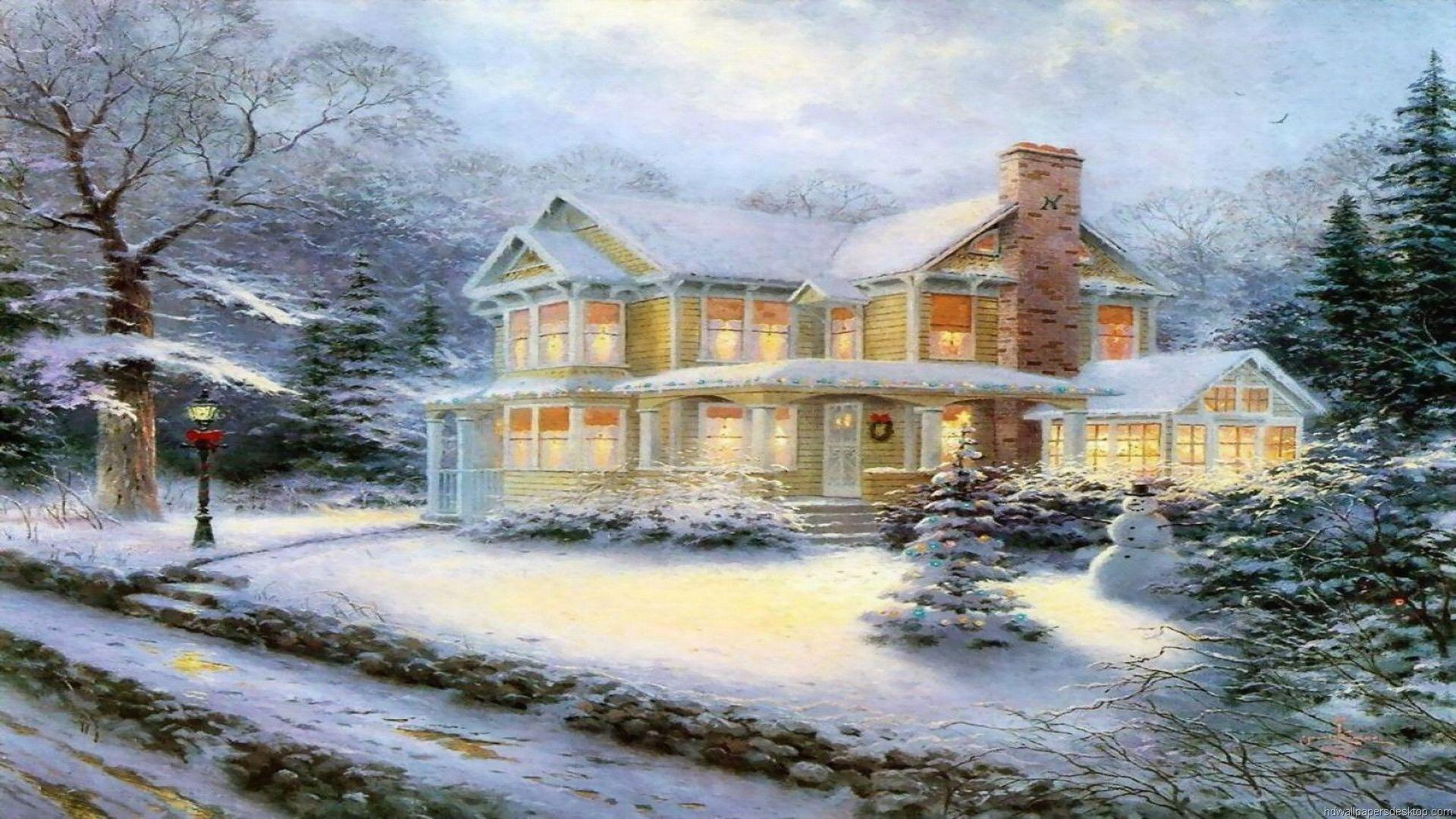 thomas kinkade christmas wallpapers – 1920×1080 High Definition