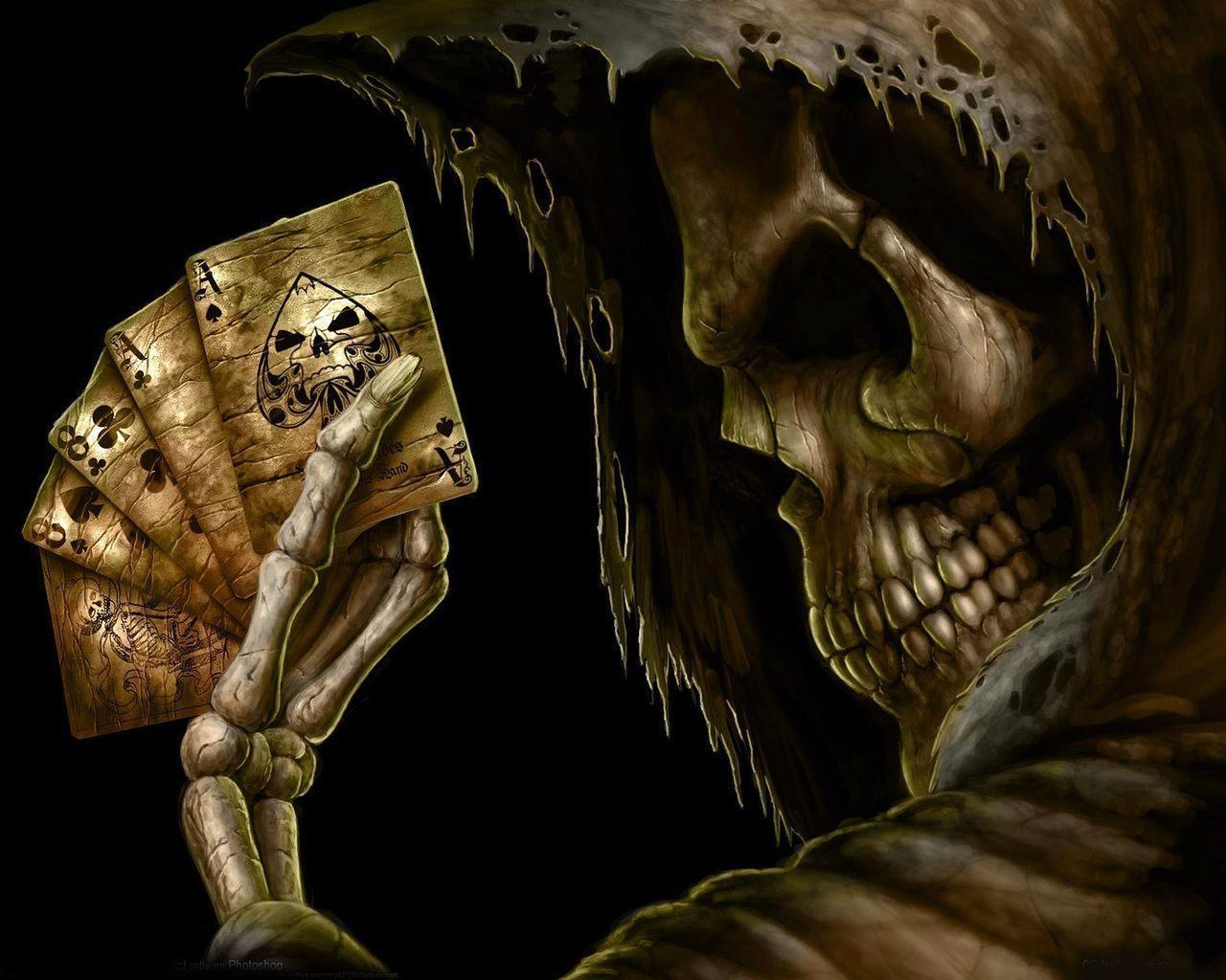 Wallpapers For \u0026gt; Skeleton Head Wallpaper 3d