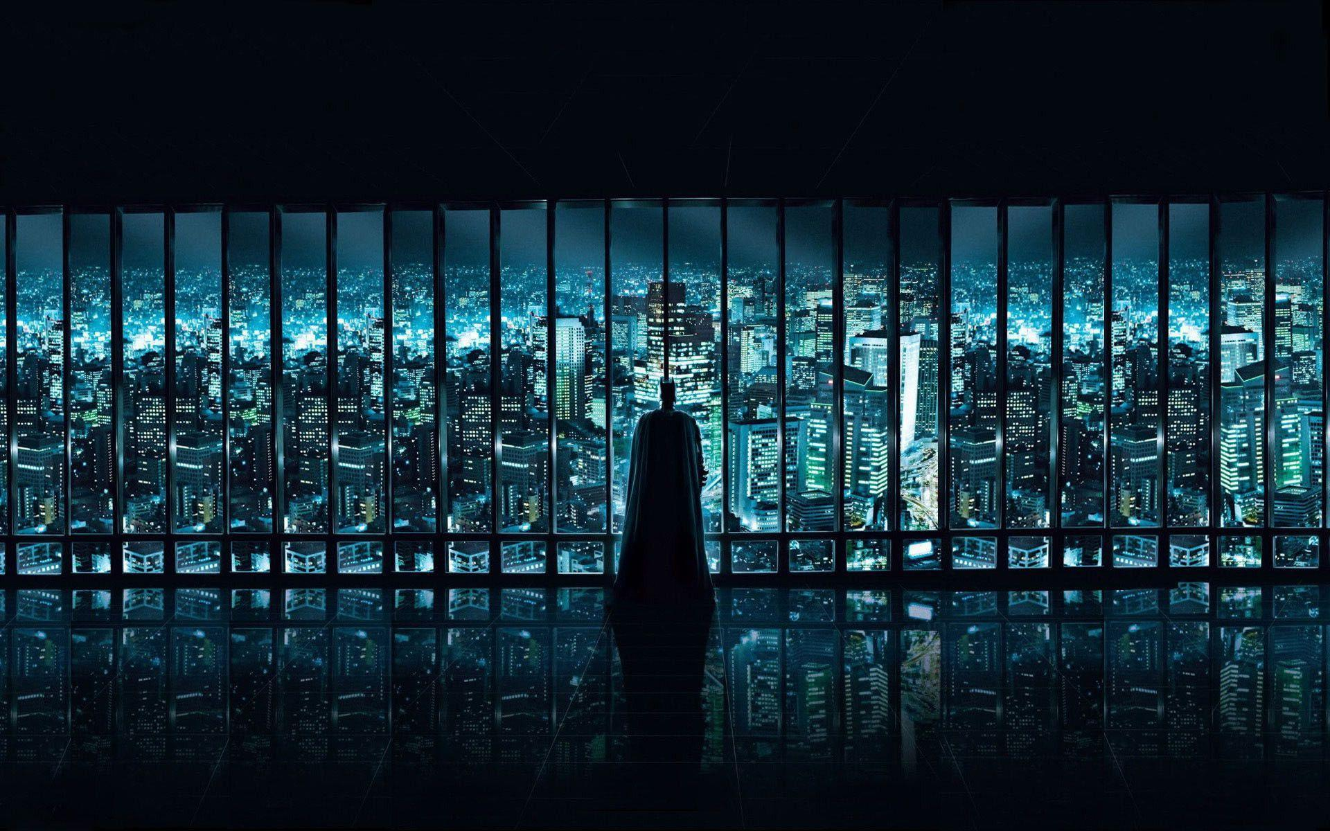batman watching over gotham city | Wallpaper