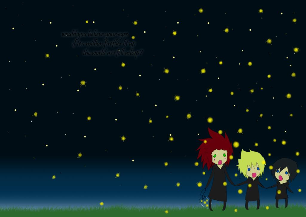 fireflies wallpaper by shugotenshii on deviantART