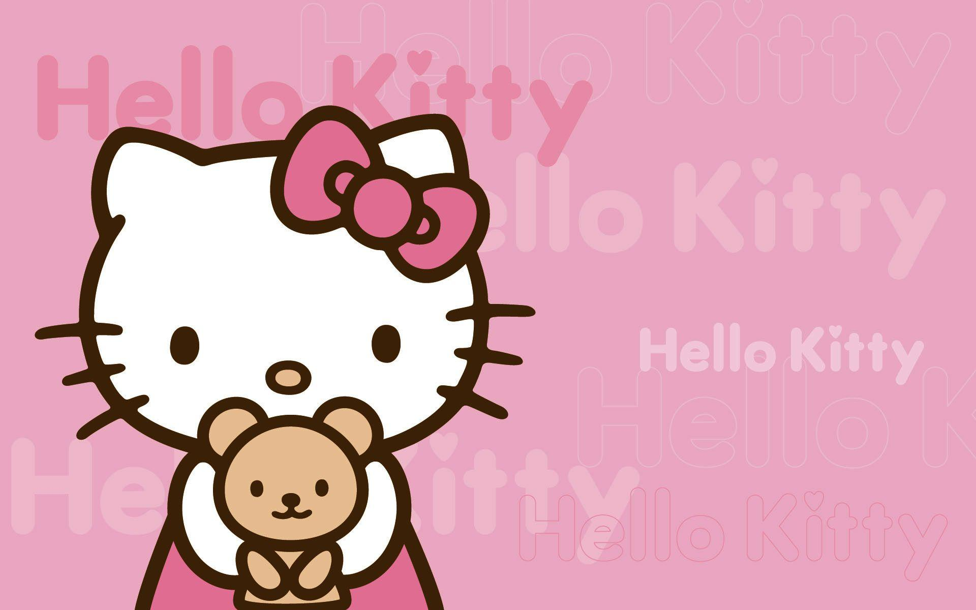 Pink Backgrounds Hello Kitty Wallpapers