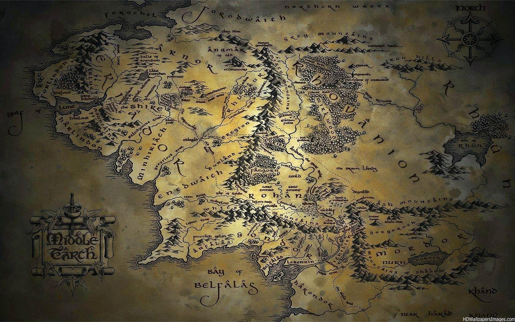 Maps For > Map Of Middle Earth Wallpapers