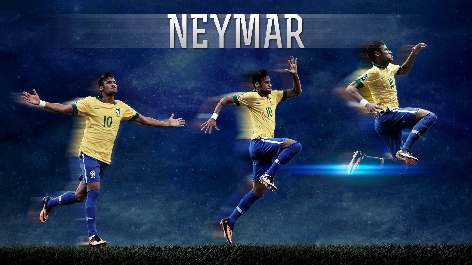 Wallpapers HD of Neymar JR Brazil 2014