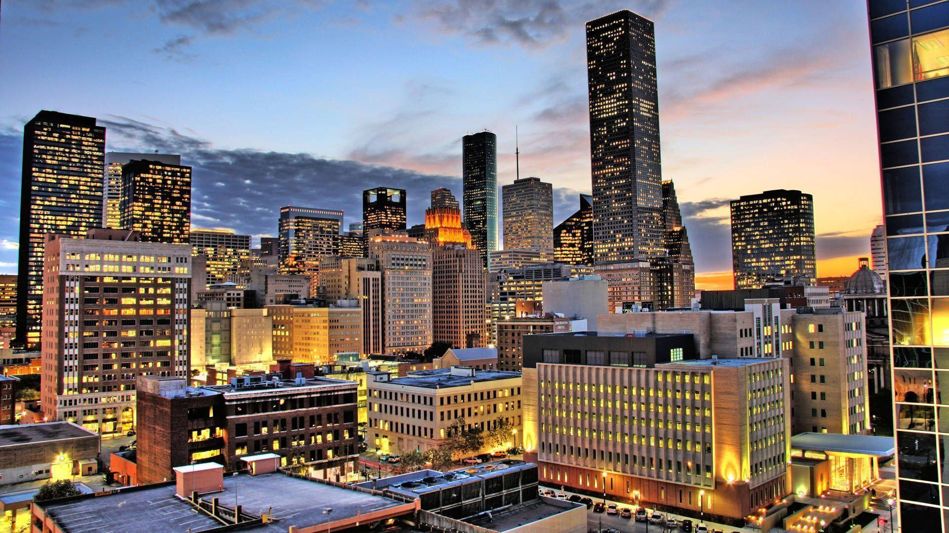 Houston Skyline Wallpapers Wallpaper Cave