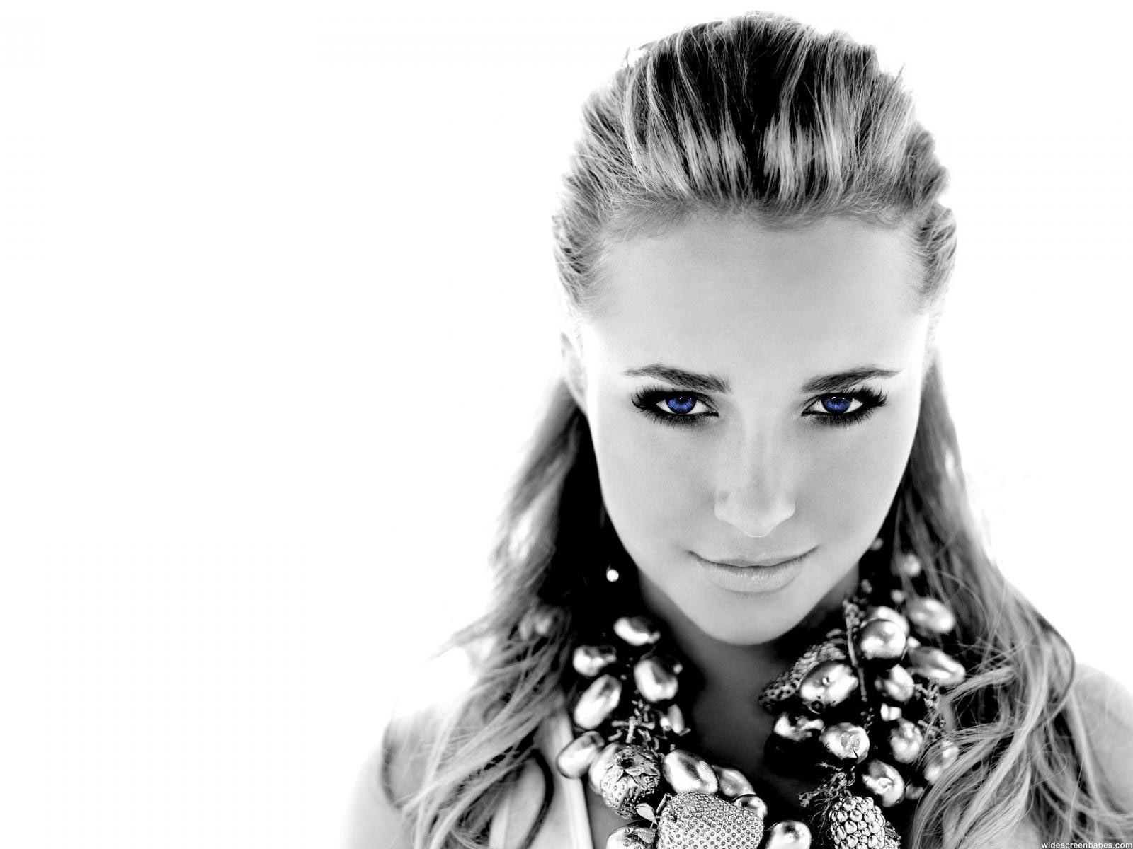 women hayden panettiere celebrity green eyes photomanipulations