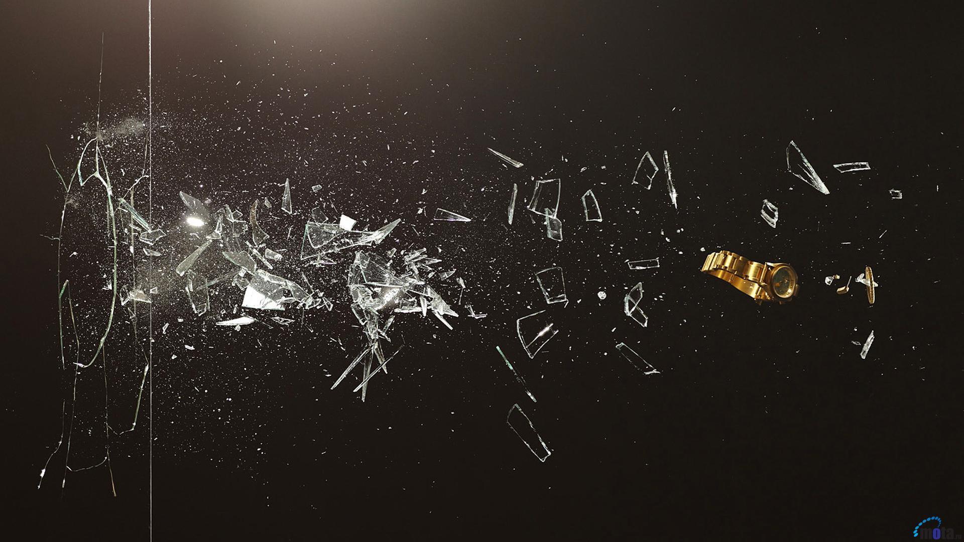 Broken Glass Backgroun...