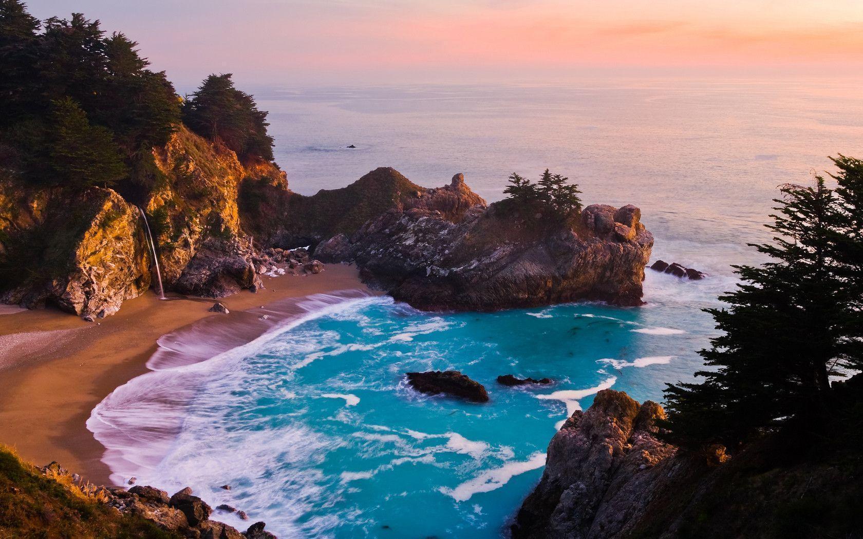 Big Sur Sunset HD desktop wallpaper : High Definition : Fullscreen ...