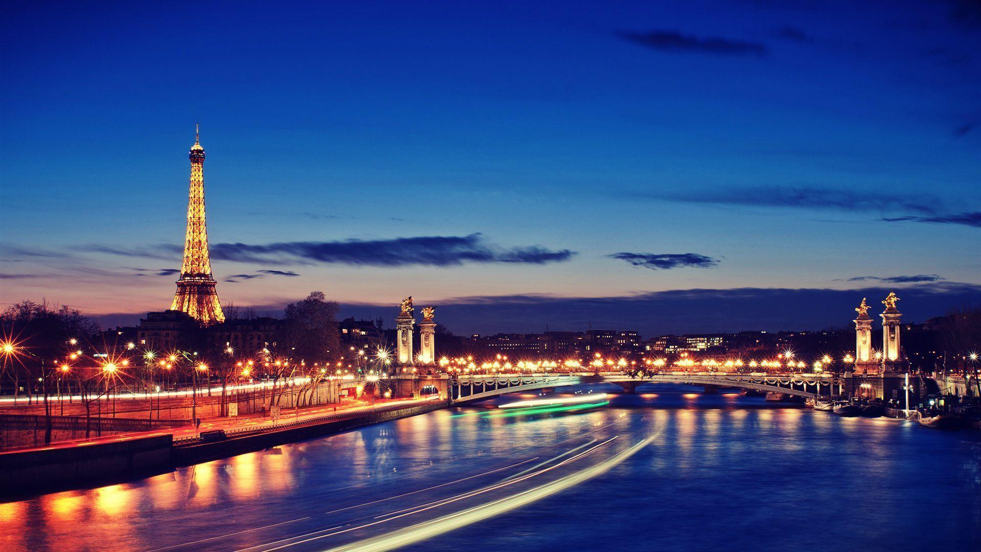 1080p HD Wallpaper Paris at Night Picture | HD Wallpapers