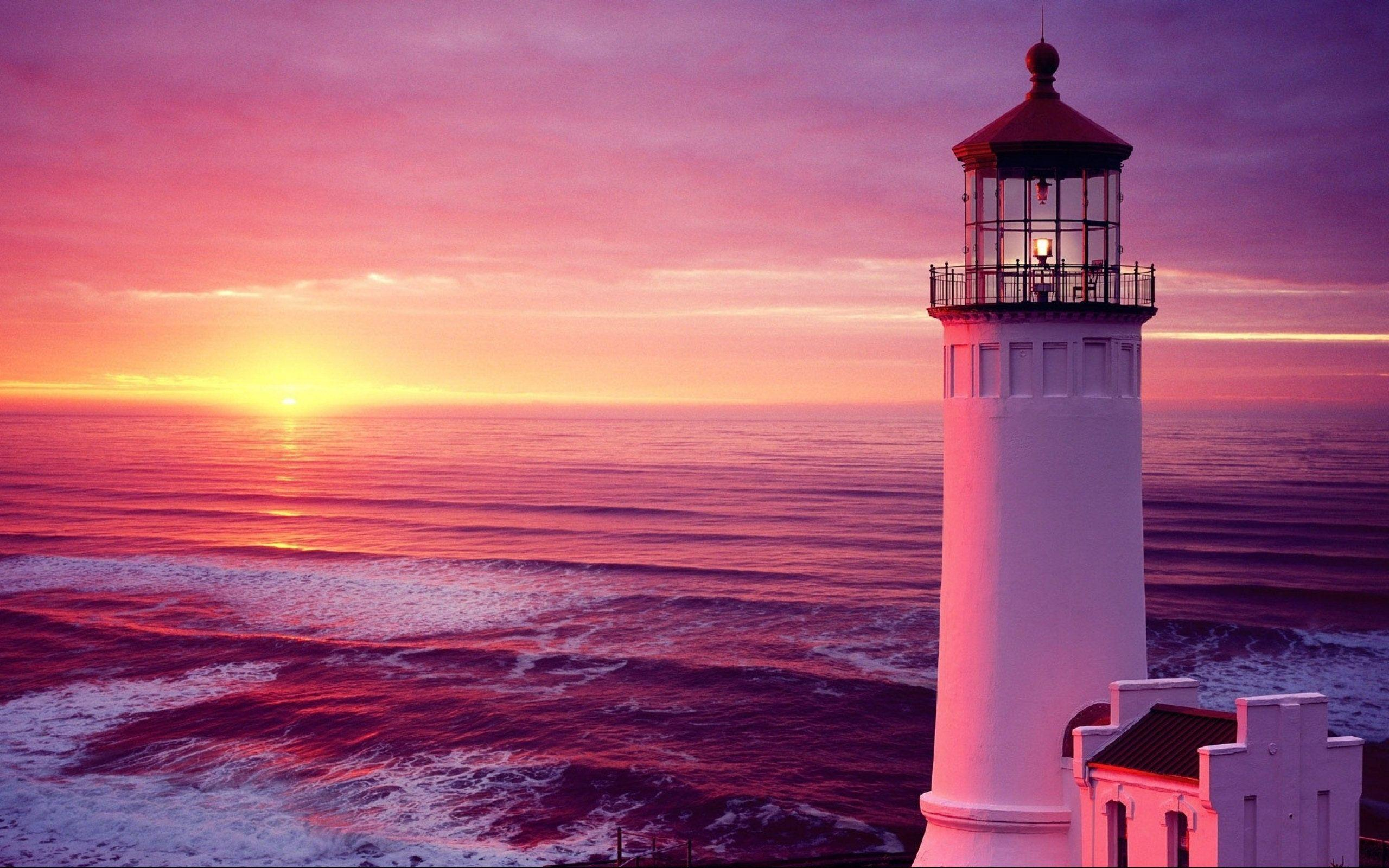 Beach Lighthouse Wallpaper | Wallpaper Download