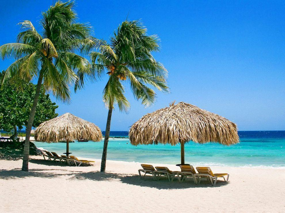 Tropical beach desktop wallpaper | Beach hd wallpaper, Beach ...