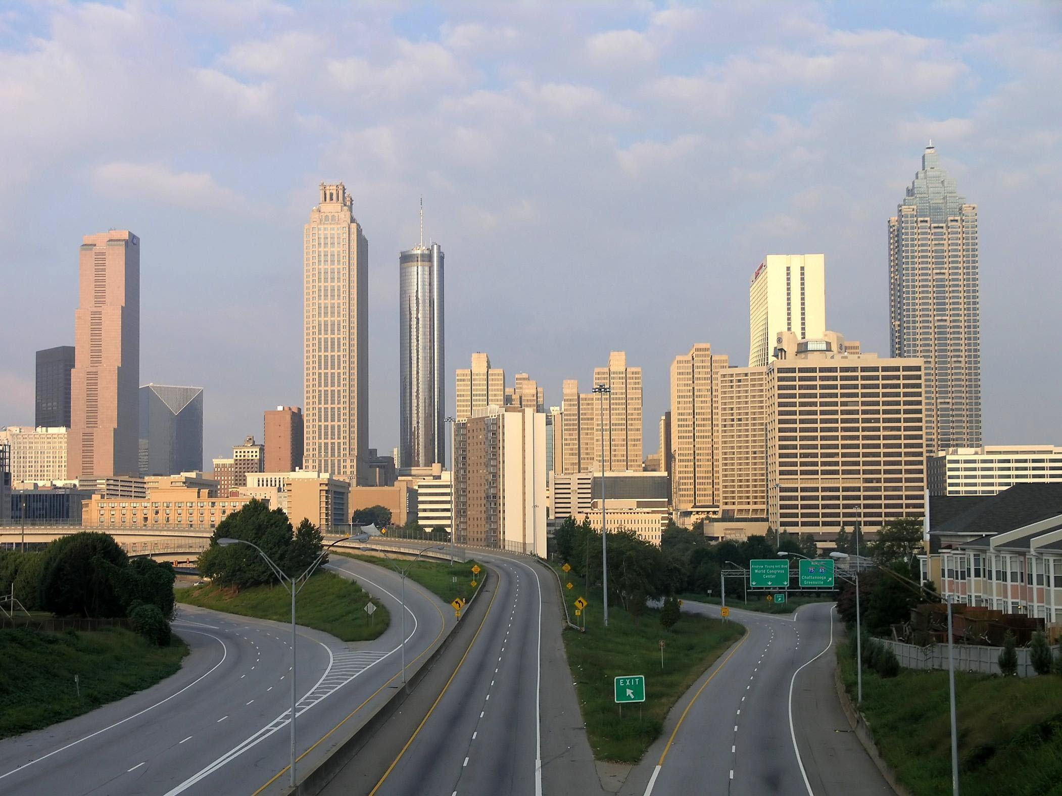 Atlanta skyline wallpapers wallpaper cave for Us city skylines photos