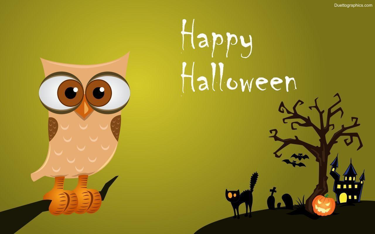 Image For > Halloween Owls Wallpapers