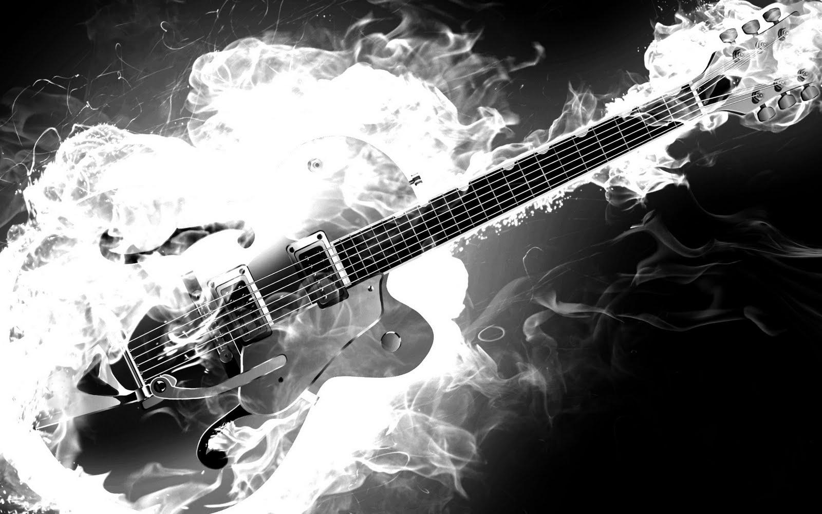 Flaming Guitars Digital Art Hd Wallpaper: Awesome Guitar Backgrounds