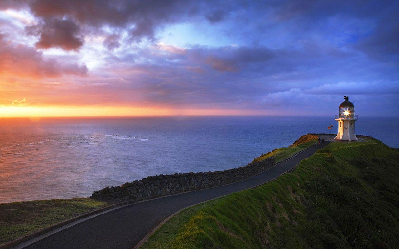 Cape Reinga Lighthouse New Zealand Wallpapers, iPhone Wallpaper ...