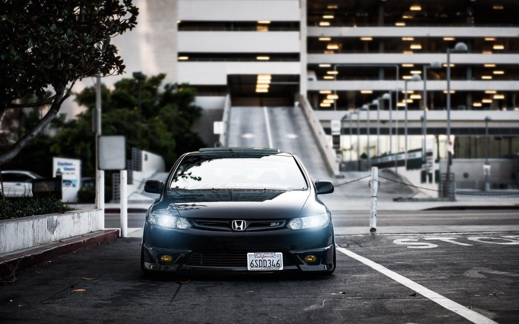 Honda Civic Car Lights Tuning HD Wallpapers