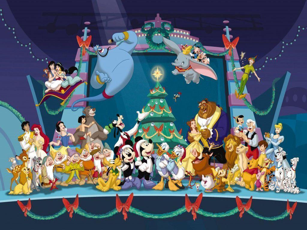 Wallpapers For > Disney Christmas Wallpapers