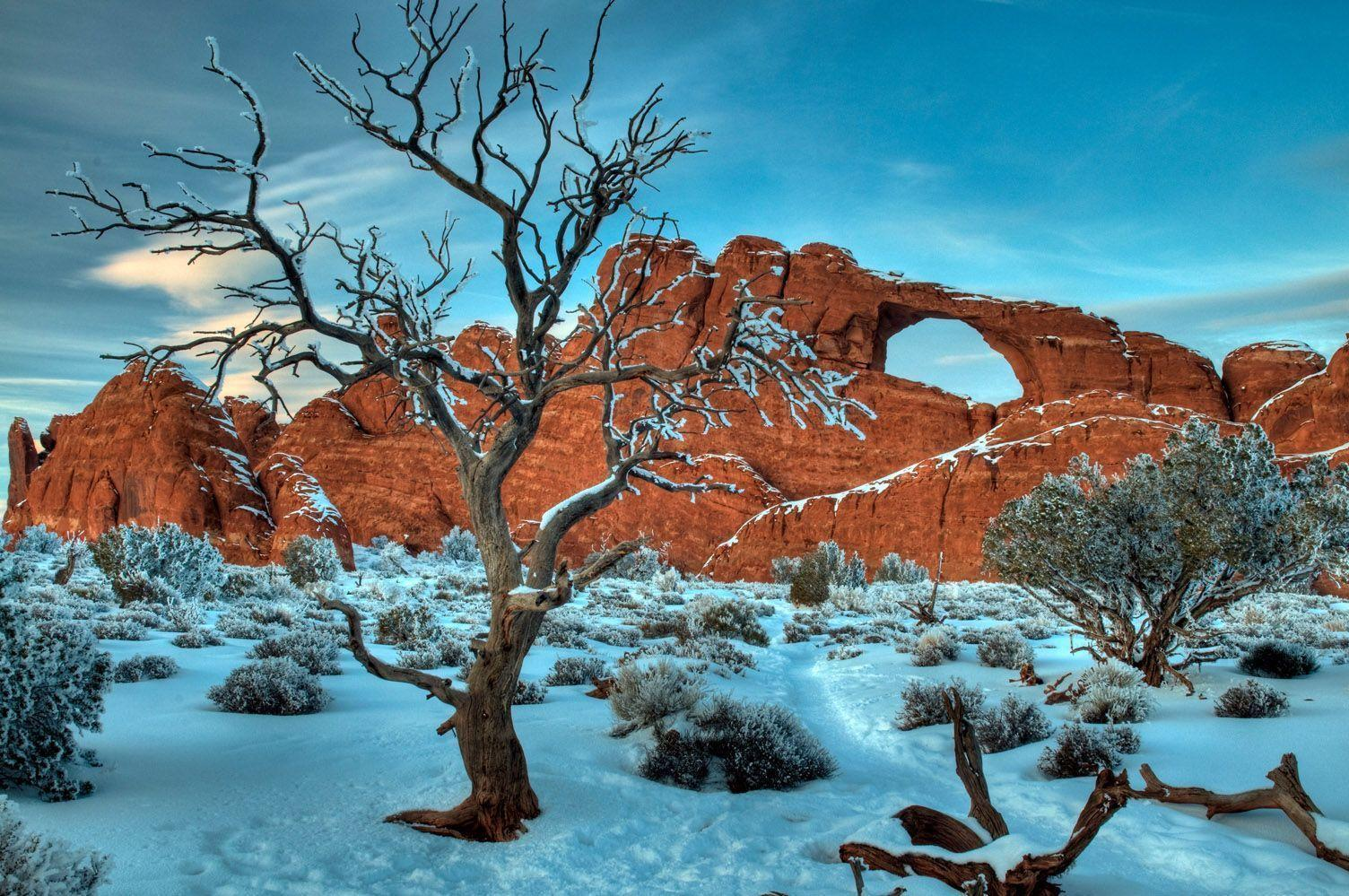 Skyline Arch, Arches National Park, Utah Us