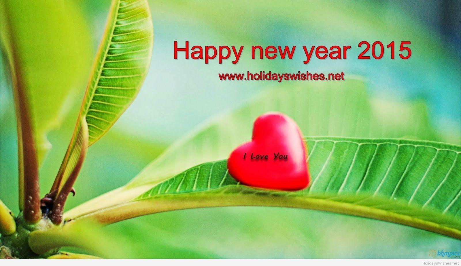 Happy new year and I love you HD wallpapers 2015
