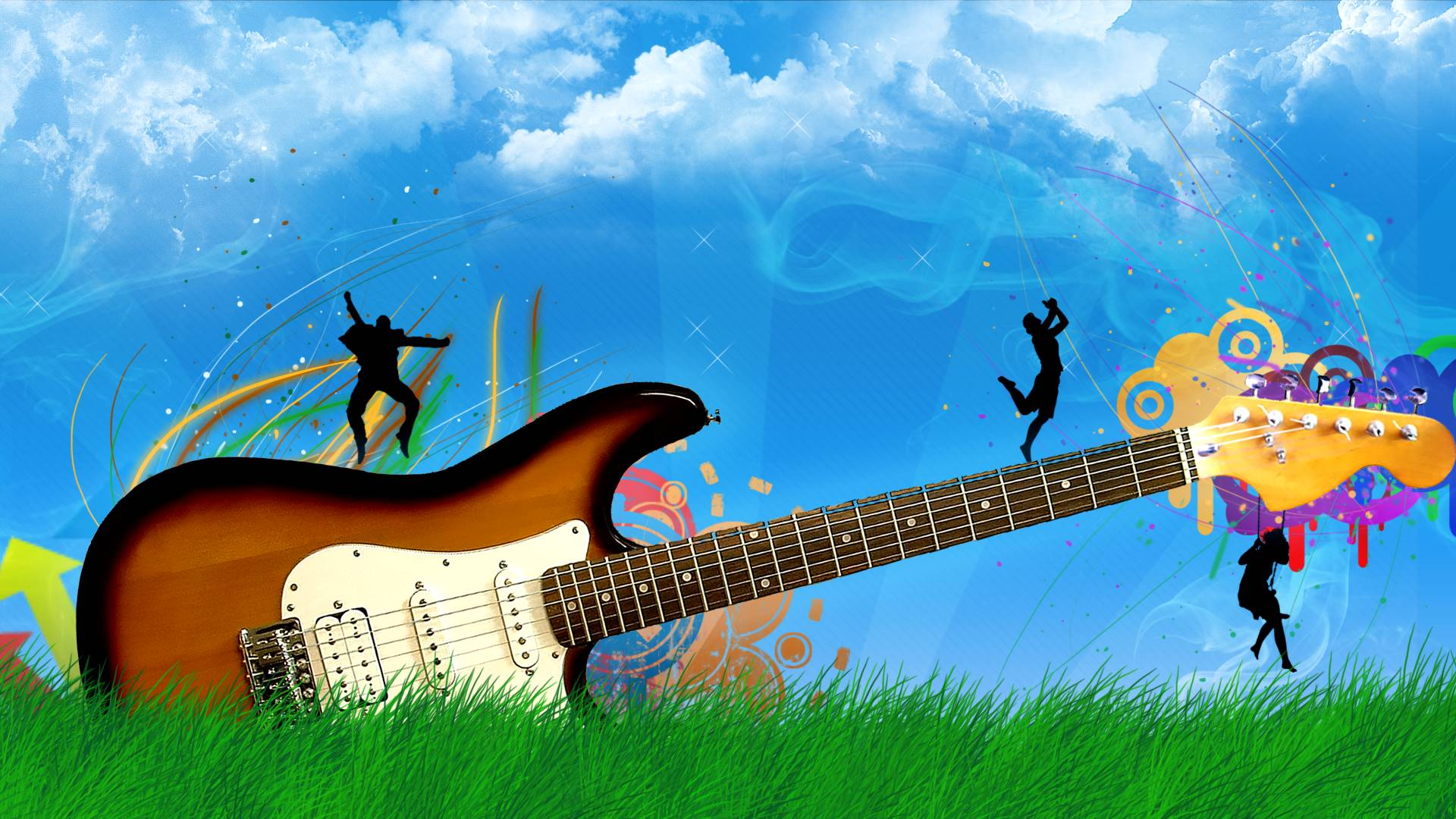 guitar wallpapers for desktop wallpaper cave