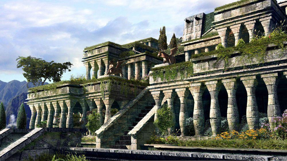 Hanging gardens of babylon wallpapers wallpaper cave - Jardin suspendu de babylone ...