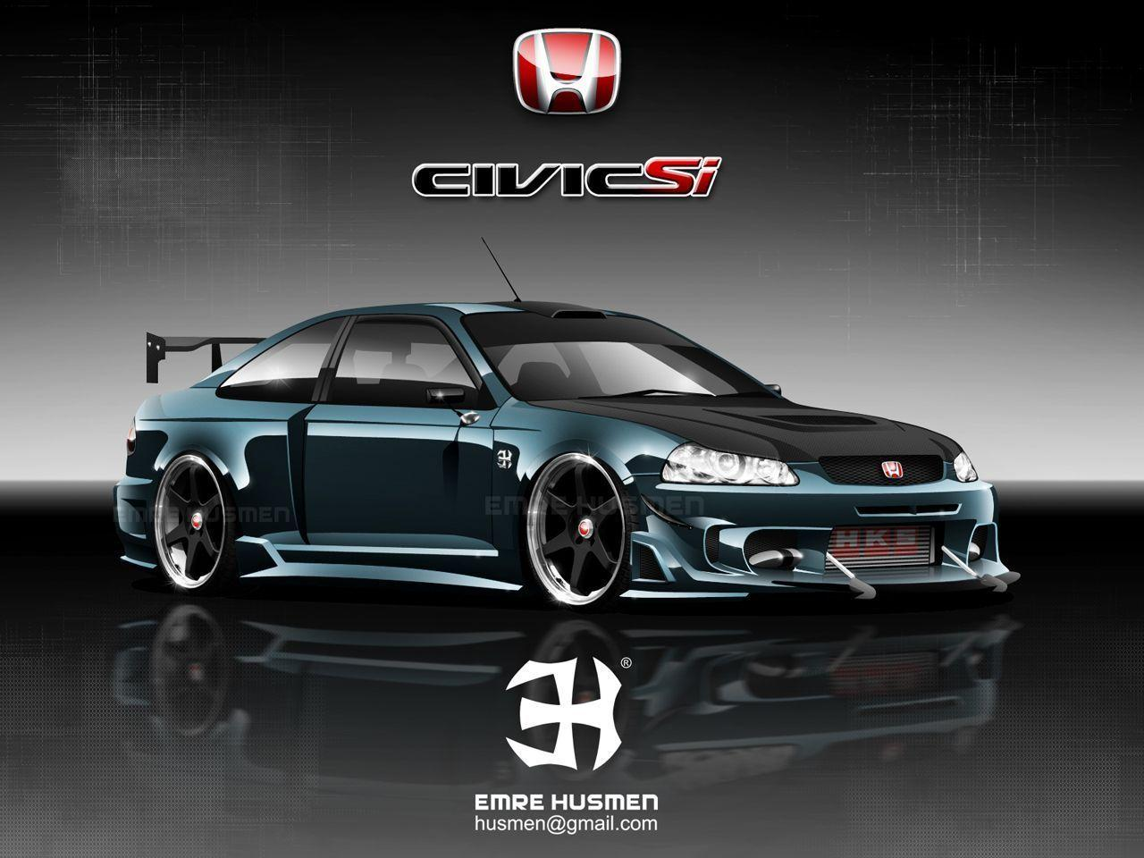 Honda Civic SI Custom WallpaperWallpic.us