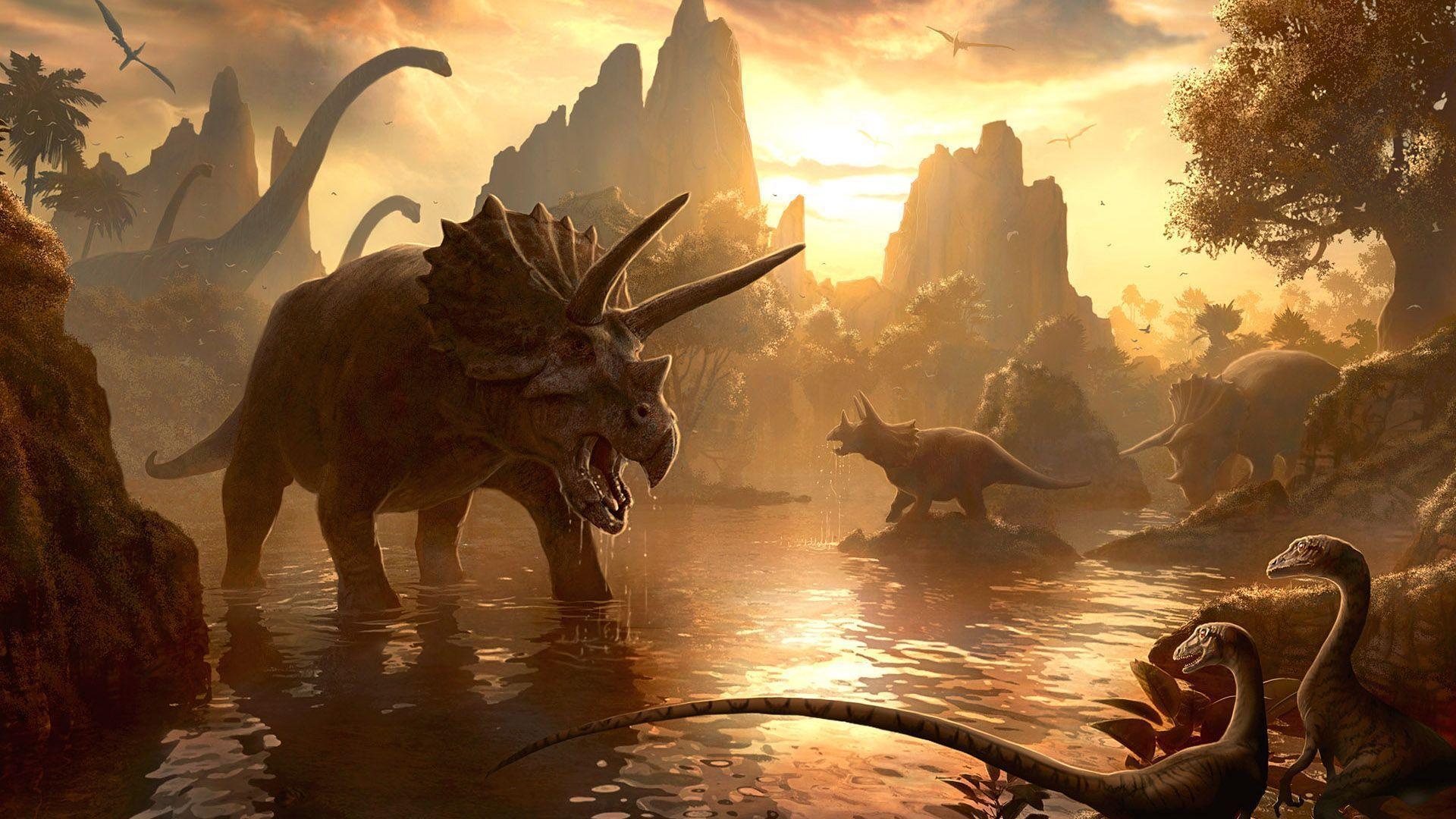 Dinosaurs Zoom Background
