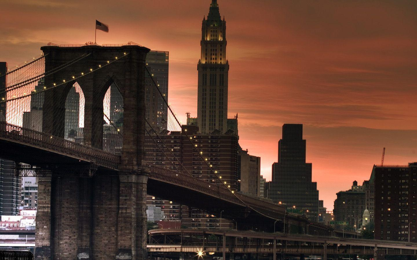 Brooklyn Bridge New York 1440x900 wallpapers