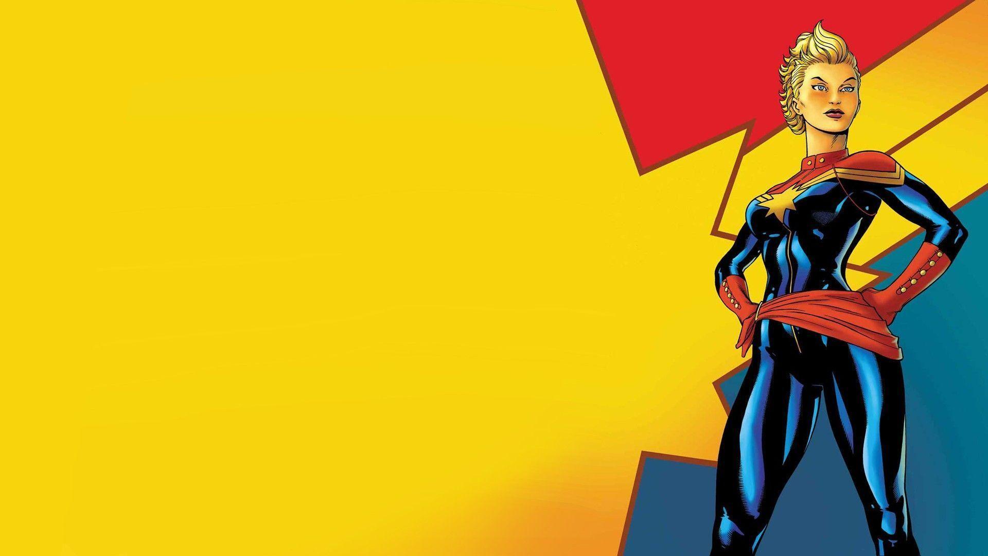 Captain Marvel Movie Poster Wallpaper