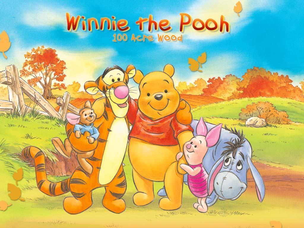 It is a picture of Modest Baby Winnie the Pooh and Friends