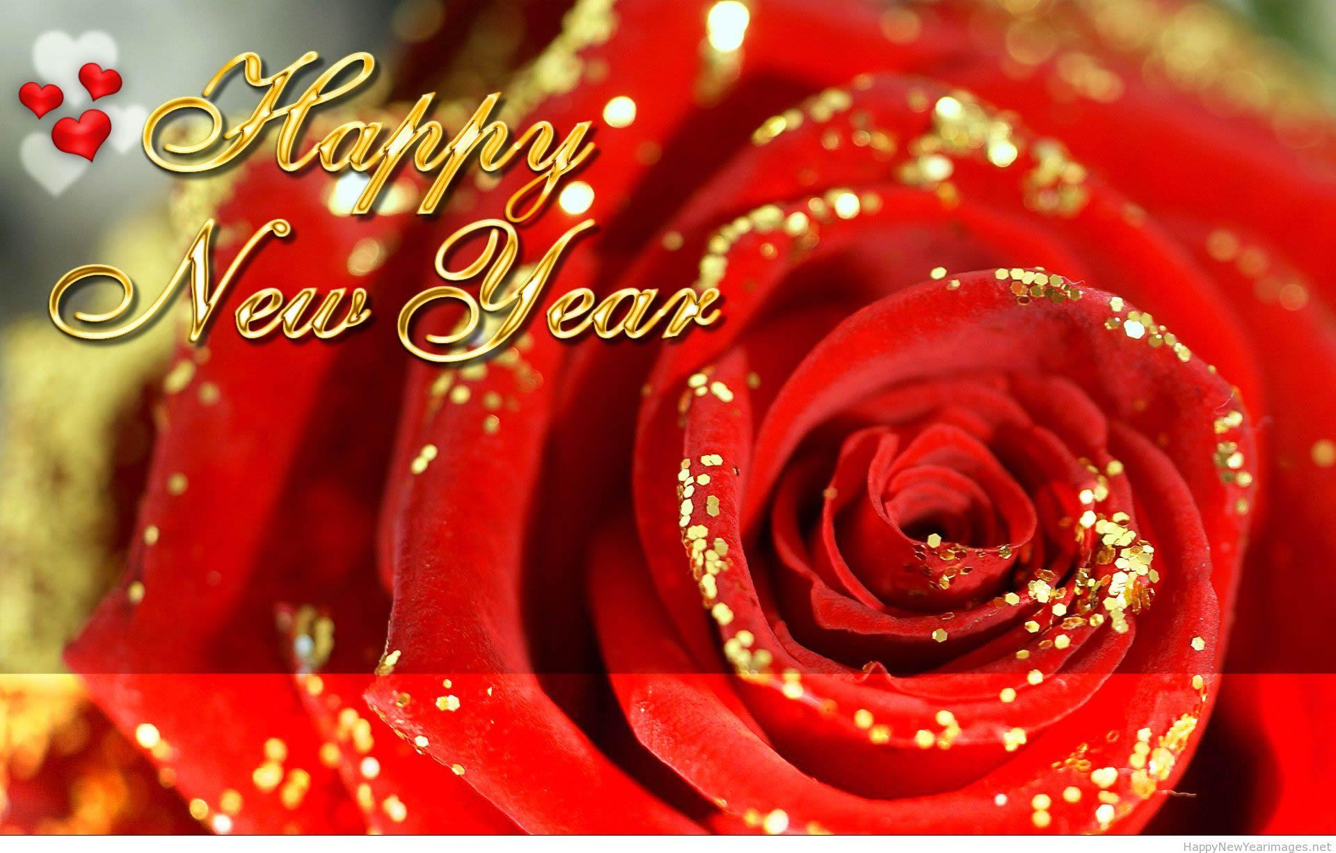 Happy new year rose wallpapers 2015