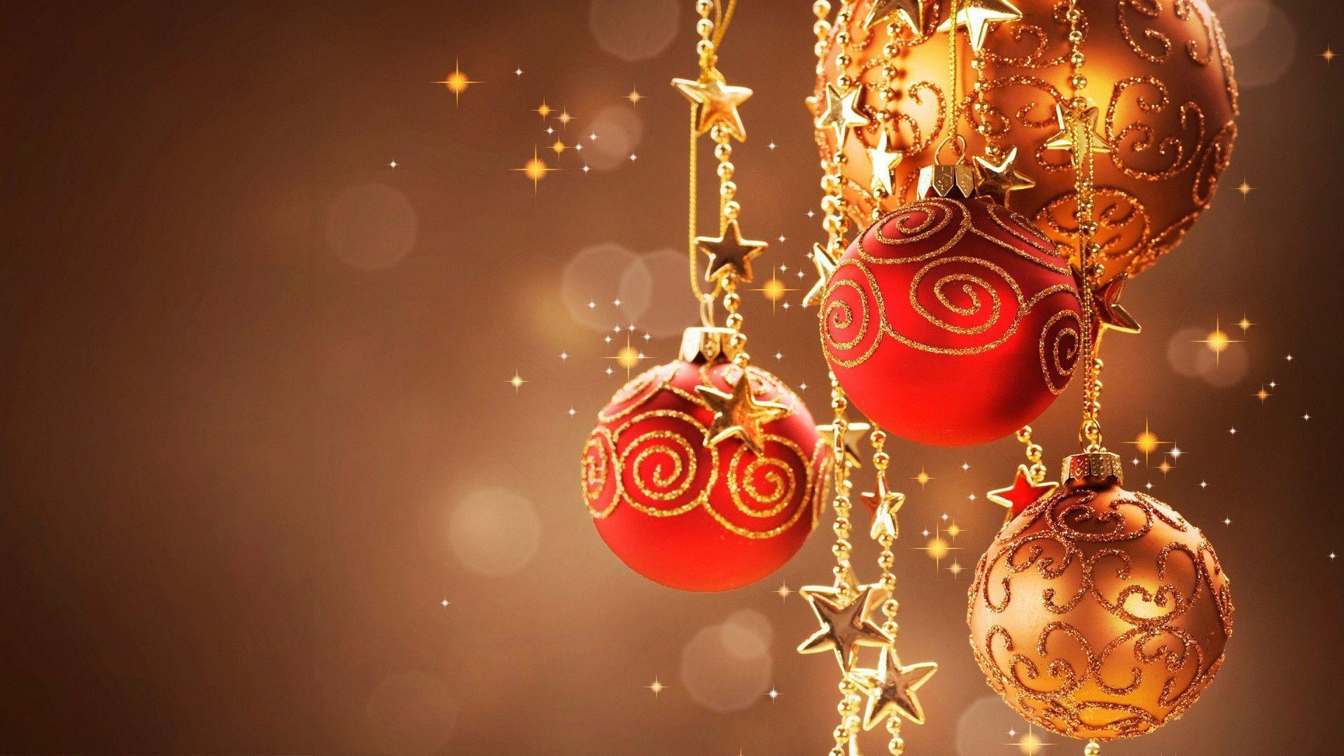 1920x1080 Sparkling christmas balls Wallpapers