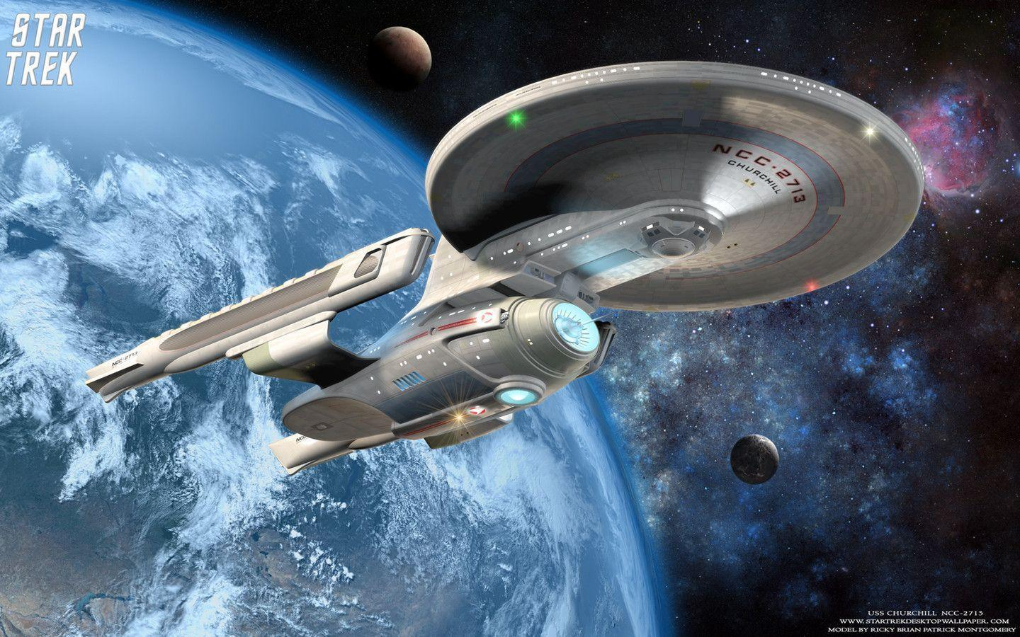 Star Trek USS Churchill NCC 2713, free Star Trek computer desktop .
