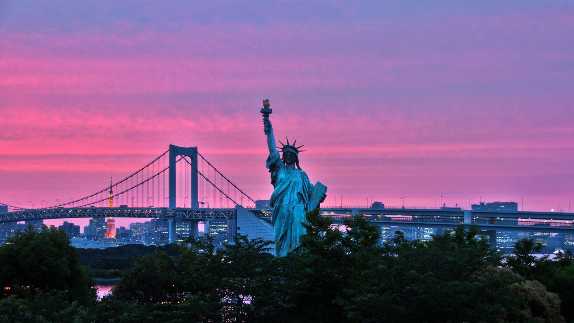 Statue of liberty new york united states wallpapers Stock Free Image