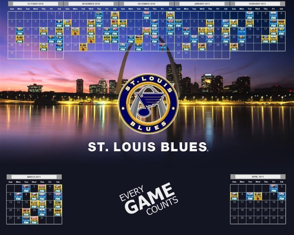 St. Louis Blues Wallpaper: Navy Blue & Yellow (October)