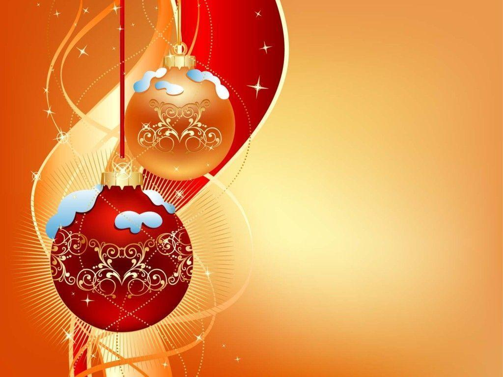 Gold And Red Christmas Ball On Light Backgroun Hd Wallpapers