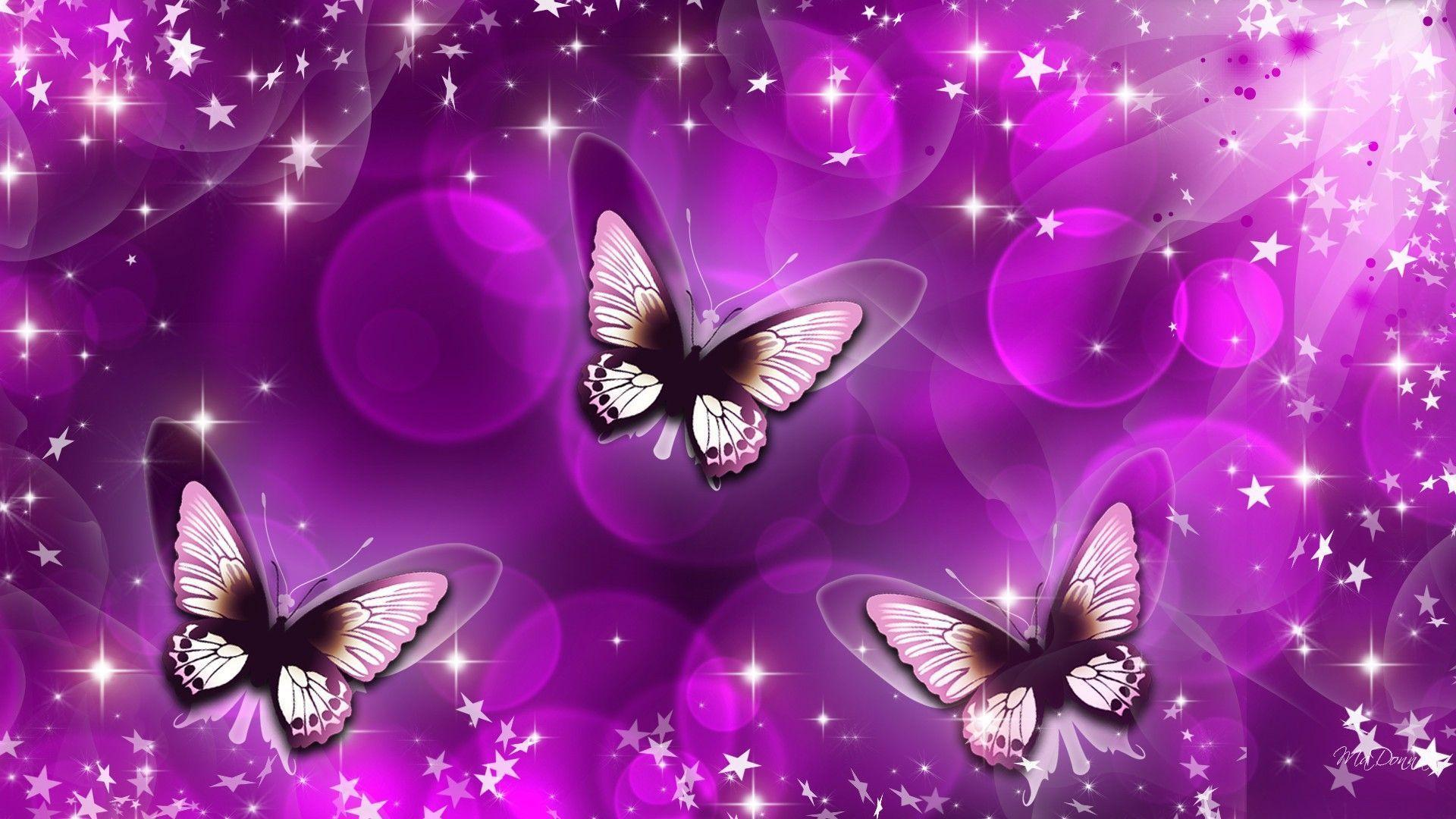 Cute butterfly backgrounds wallpaper cave for Purple wallpaper 3d