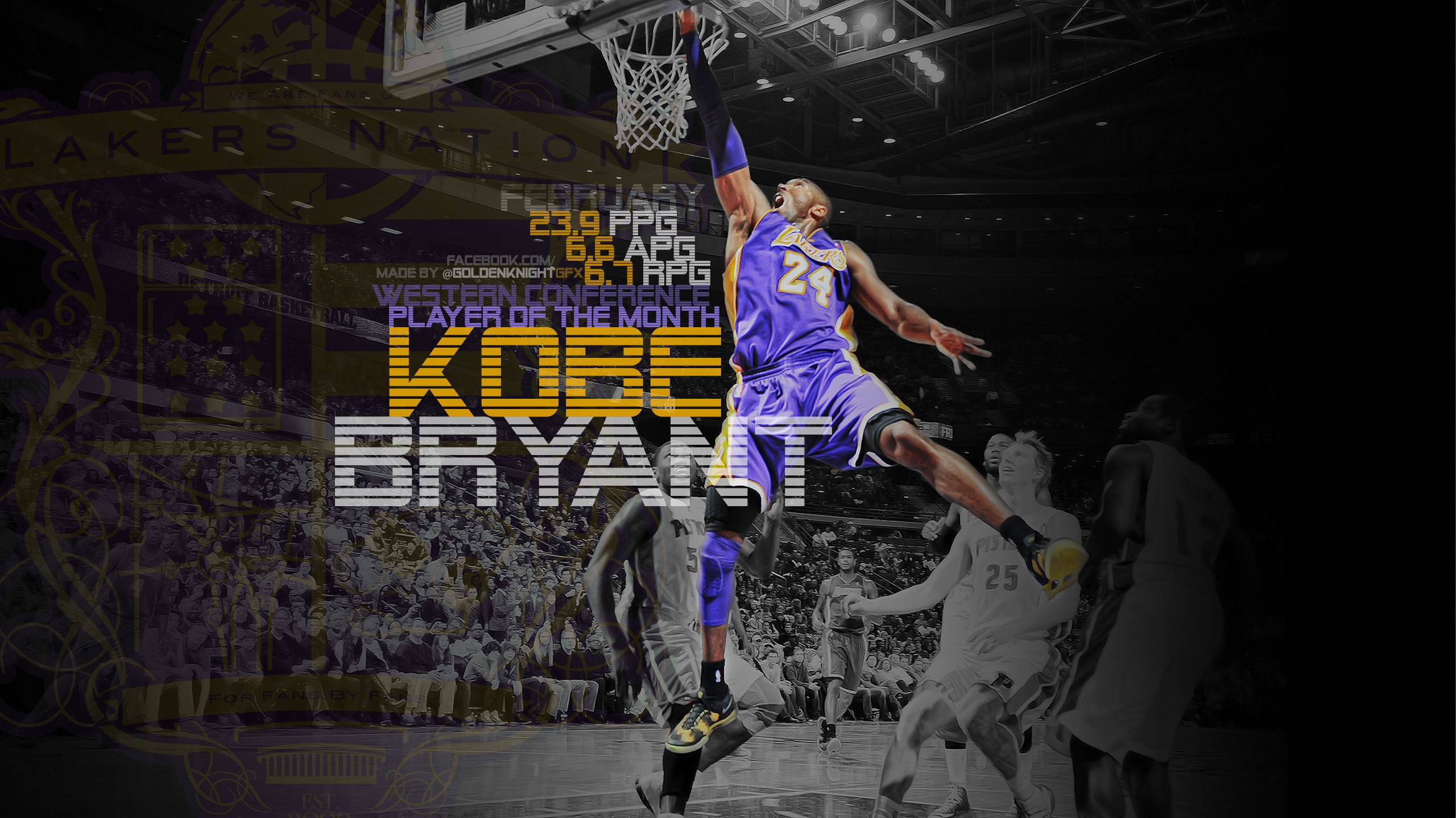 Lakers Wallpaper Kobe Bryant Wins Western Player Of The Month Download