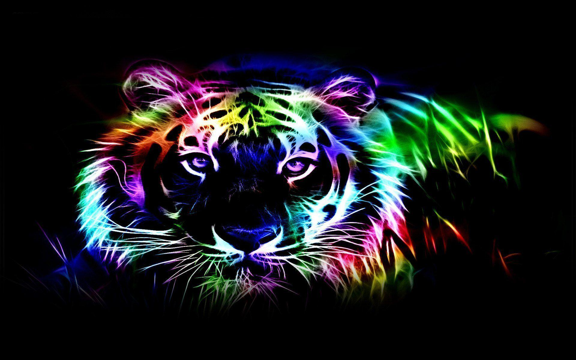 Wallpapers For > Neon Tiger Wallpapers