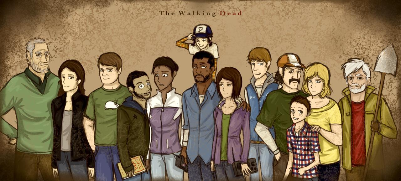 Gallery For > The Walking Dead Game Fan Art
