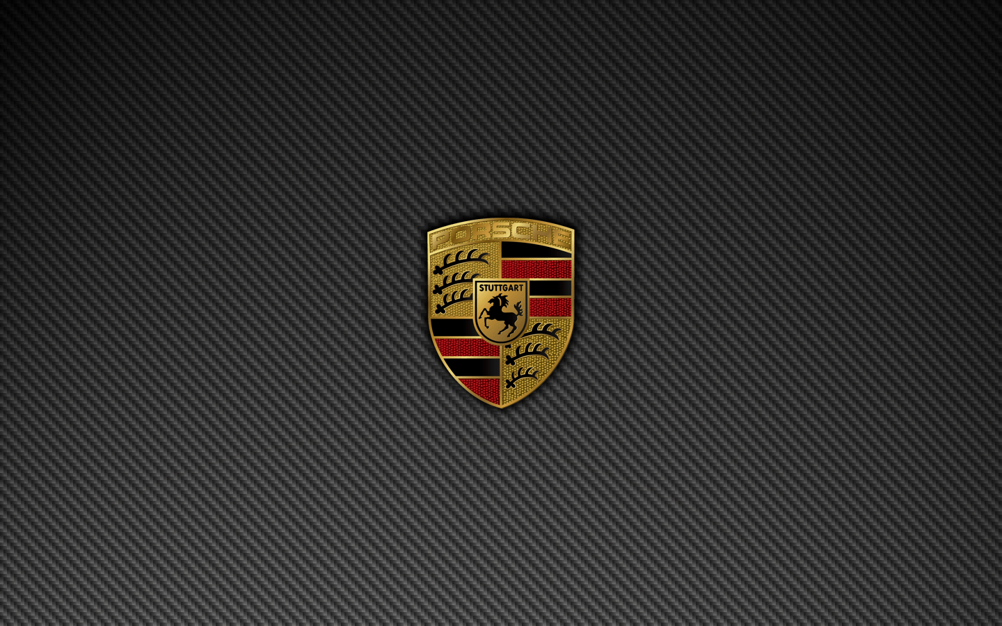 Porsche Badge Logo Carbon Fiber Wallpapers 1440×900