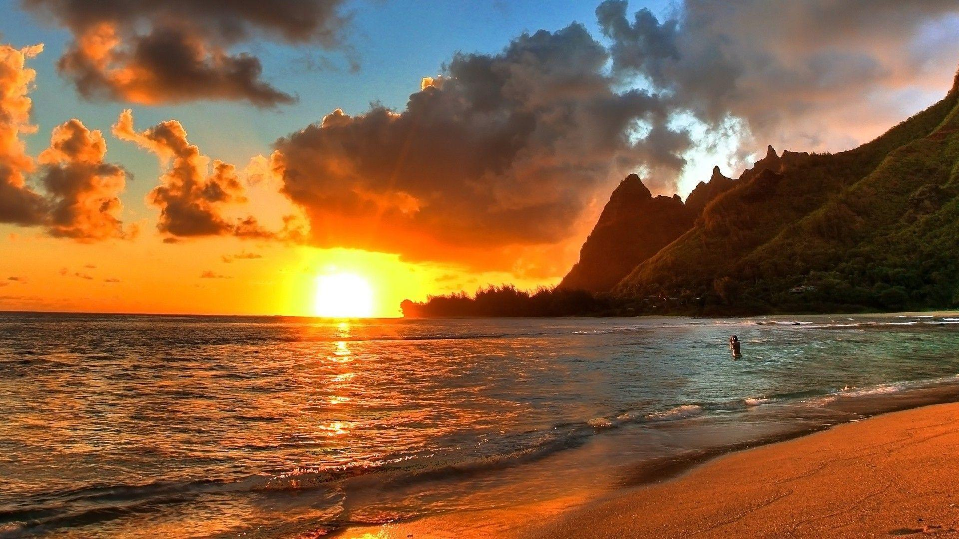Hawaii sunset wallpapers wallpaper cave for Paesaggi bellissimi per desktop