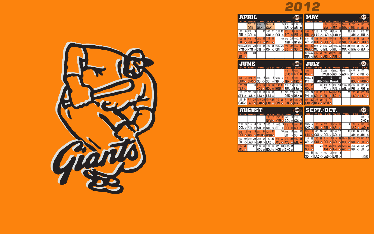 Sf Giants 2015 Schedule Wallpapers