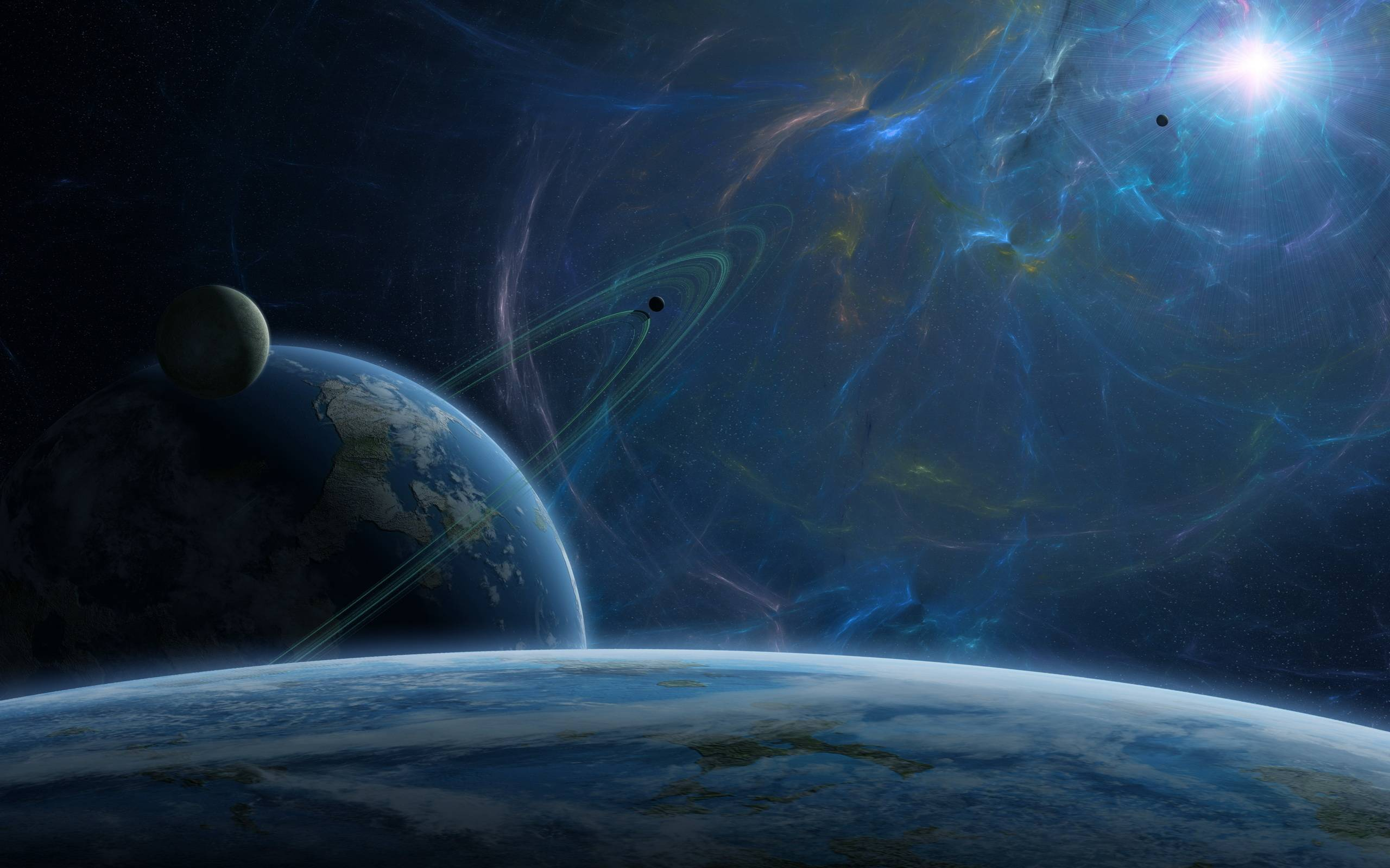 In outer space wallpapers and image