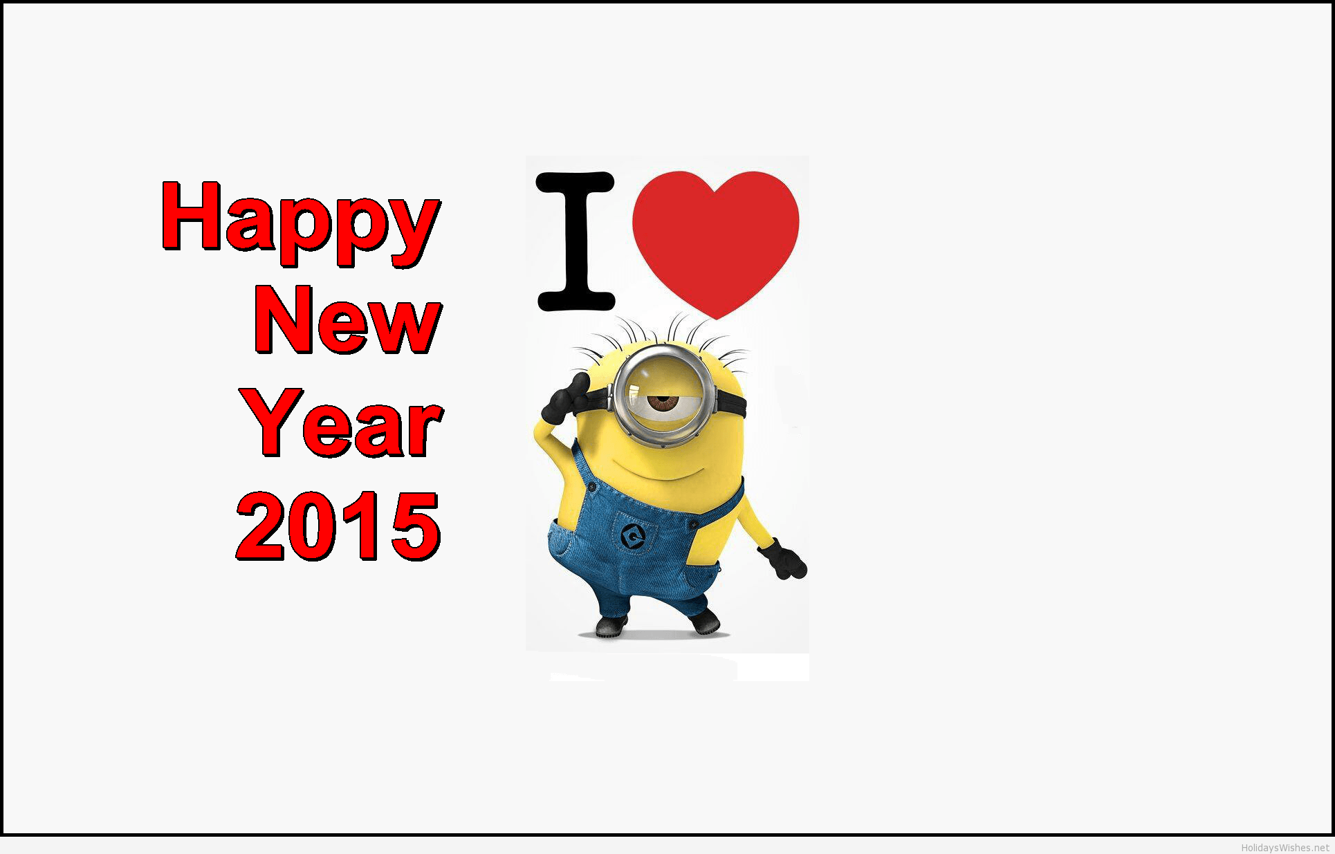Minion wallpapers funny love message 2015
