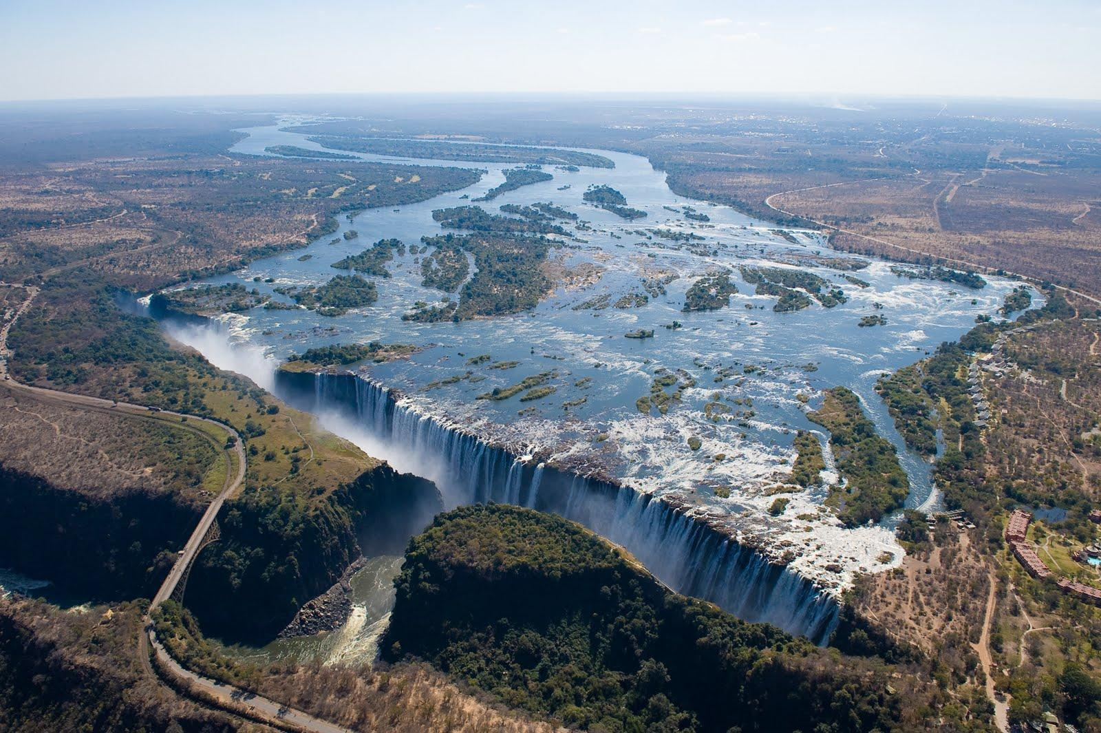 Wallpapers of gazed flight victoria falls africa Stock Free Image