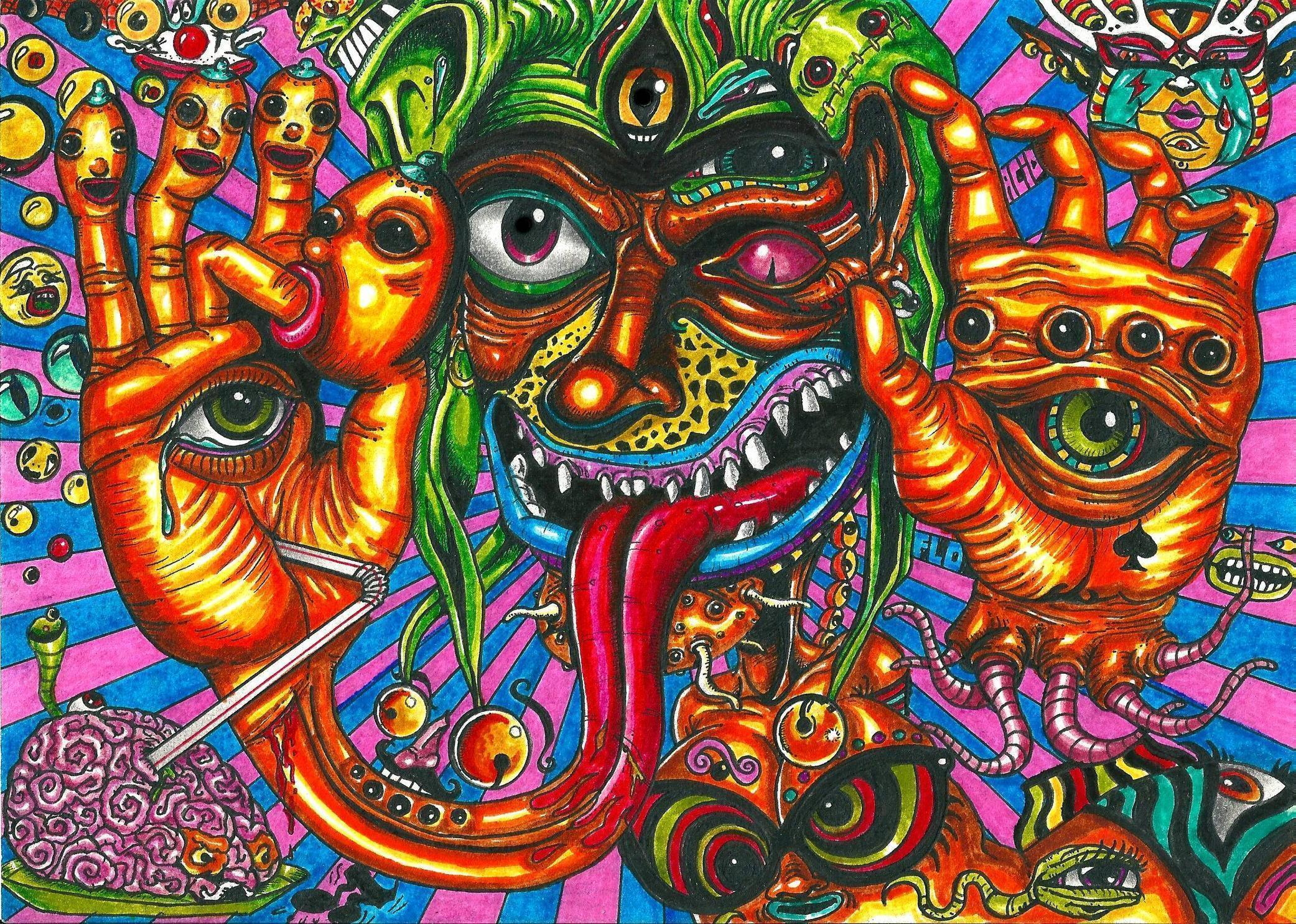Trippy 5 by defictionalization on DeviantArt |Crazy Trippy Drawings