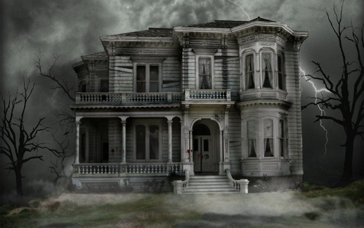 Haunted house wallpapers desktop wallpaper cave for Wallpaper new home