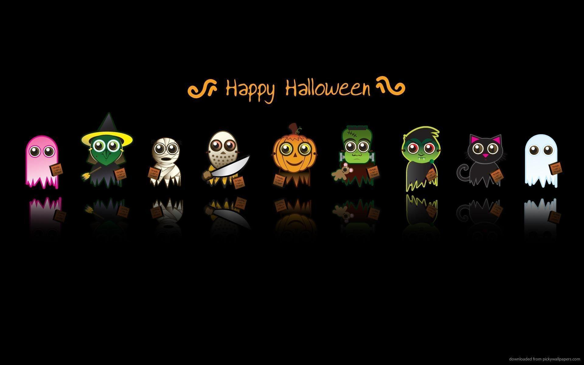 Cute Halloween Characters Wallpapers