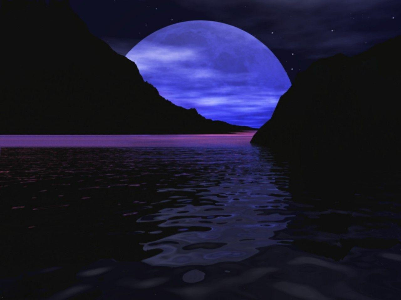 Cool moon backgrounds wallpaper cave - Cool night nature backgrounds ...